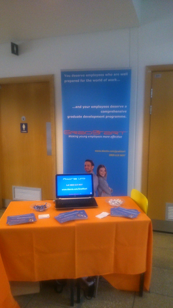 West berks Careers Fair GradStart stand